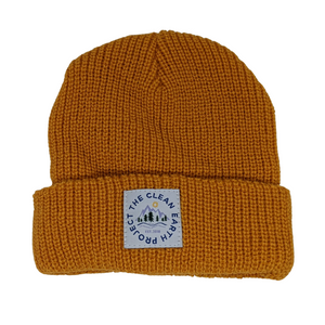 kids gold winter beanie