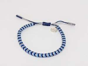 blue grey light blue bracelet