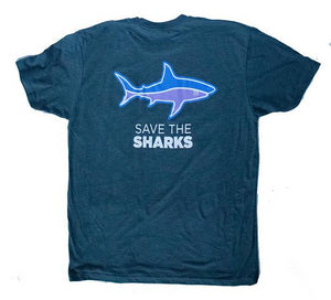 save the sharks tshirt