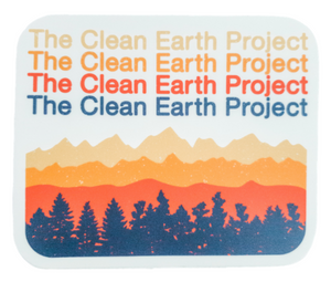 white mountain range sticker