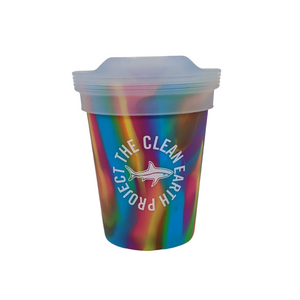 8oz reusable pint multi color shark design