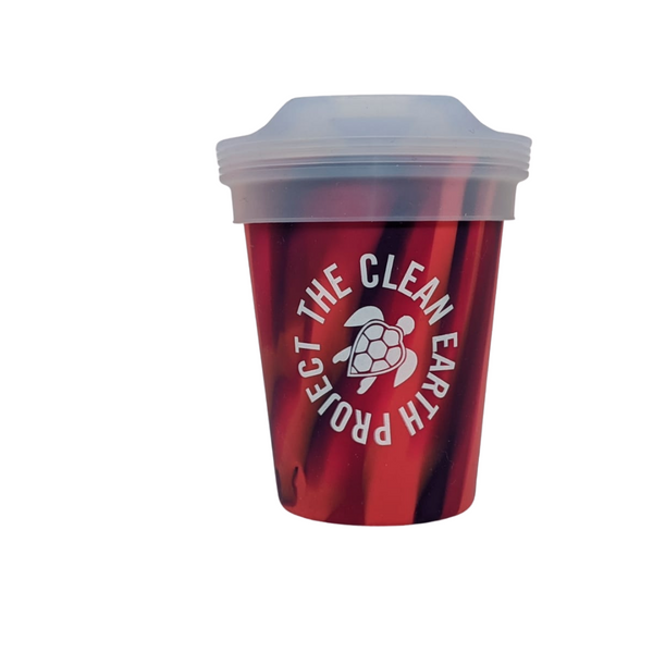 8oz reusable pint red turtle design