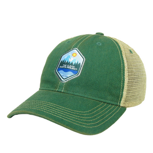 The Clean Earth Project | Vintage Trucker Hat | Kelly Green