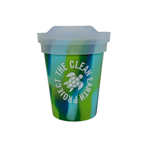 8oz reusable pint green turtle design