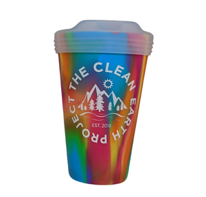 multi color reusable cup 16 oz