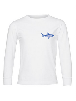 Shark Unisex Youth Jersey Long Sleeve Tee
