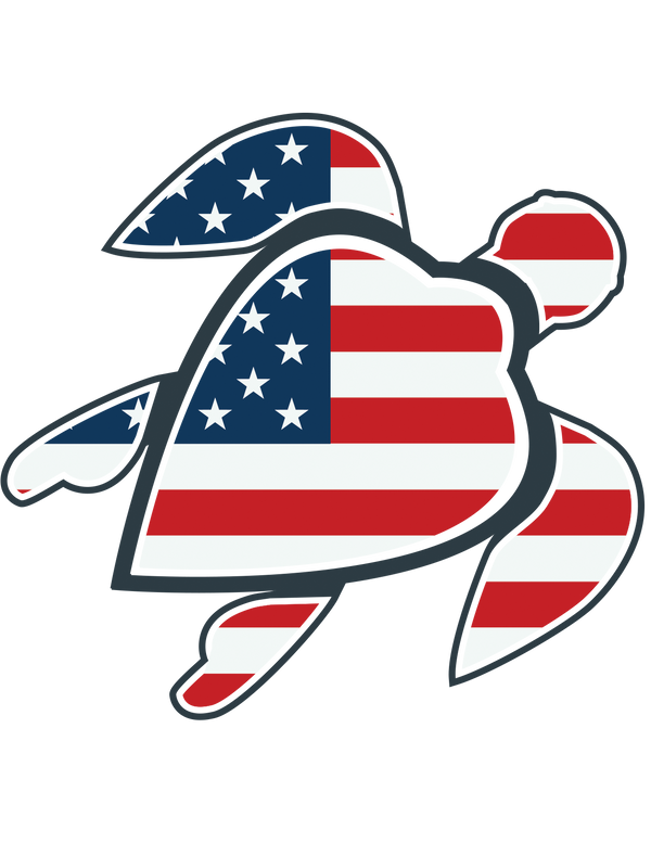the clean earth project american flag turtle sticker