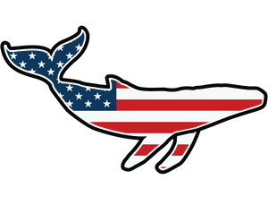 american flag whale magnet