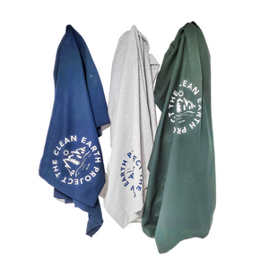sweatshirt blanket blue, grey, green colors