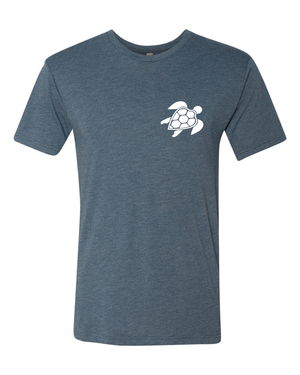 Original Turtle Tee | Heather Indigo
