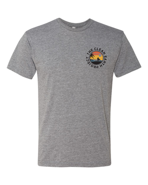 heather grey surfer logo front