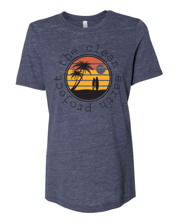 Endless Summer Collection | Woman's Tee | Surfer Gal   Vintage Navy