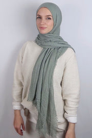 JVeil Pale Green Cotton Hijab