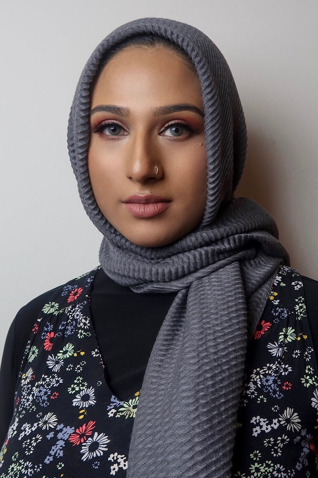 JVeil Grey Viscose Hijab