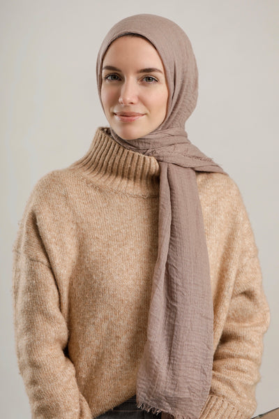Jveil taupe cotton hijab
