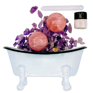 Wellness ✚ Rose Quartz 🛁 Holistic Mineral Bath