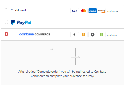 Pick coinbase commerce to shop with cryptocurrency for your gear at HikingDogCo