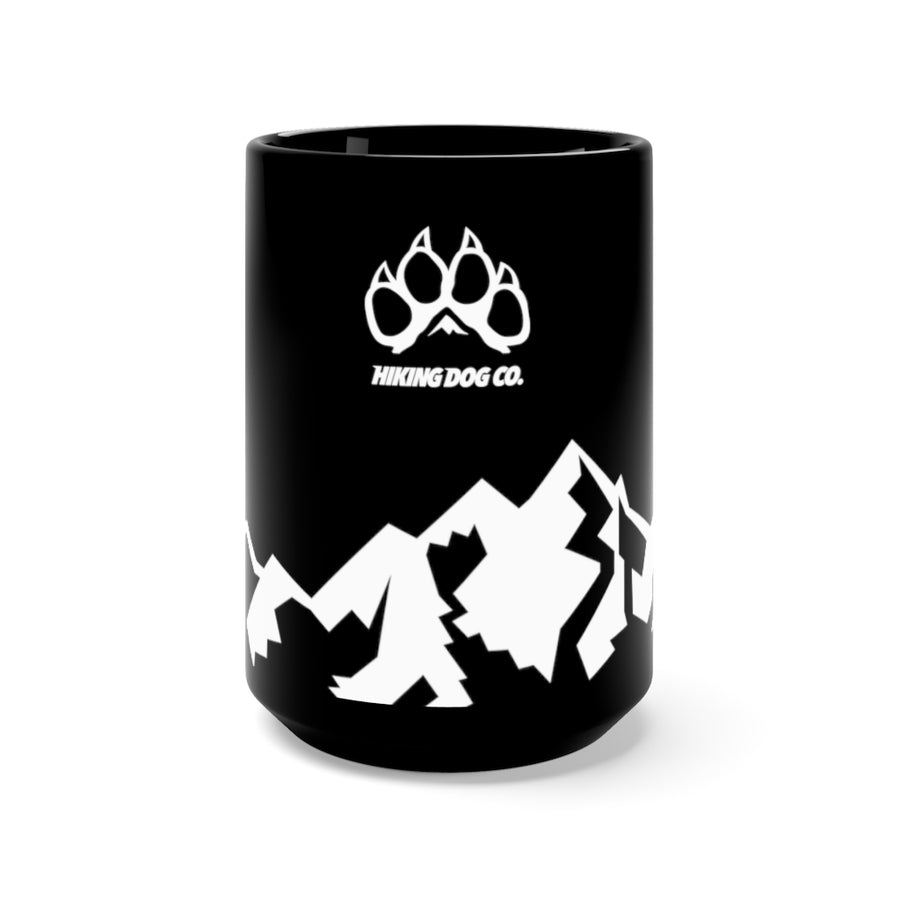 Logo over Mountains Black Mug 15oz