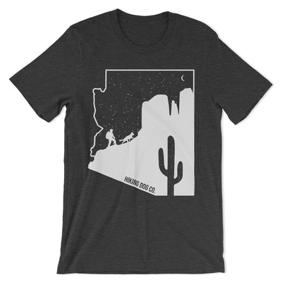 Sedona T Shirt with Cathedral Rock - Gray | Hiking Dog Co.