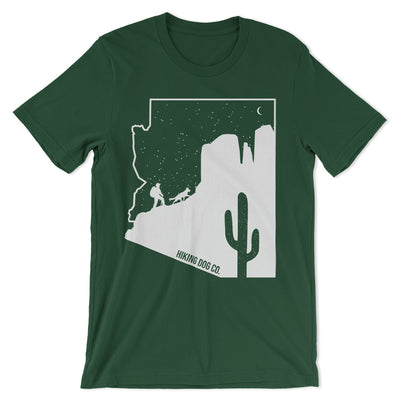 Sedona T Shirt with Cathedral Rock - Forest Green | Hiking Dog Co.