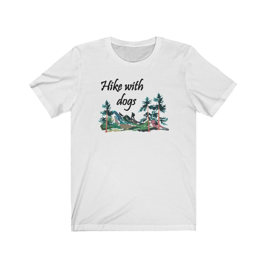 Hike With Dogs Watercolor T-Shirt (Unisex)