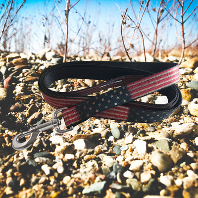Buckle-Down Vintage U.S. Flag  Lead