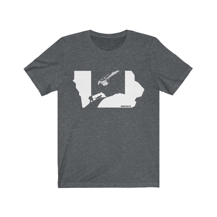 Iowa Hiking Dog T-Shirt