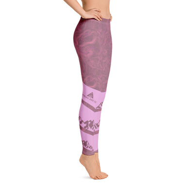 Topographic Women's Leggings - Pink Mauve