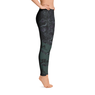 Topographic Women's Leggings - Green