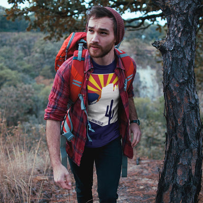 Arizona State Flag Hiking Dog Men's Shirt | Hiking Dog Co.
