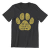 Black Never Hike Alone With Dogs T-Shirt | Hiking Dog Co.