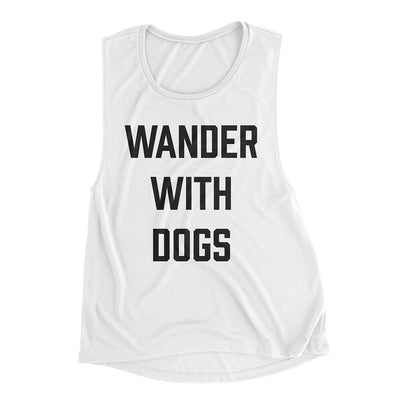 White Wander With Dogs Muscle Tank | Hiking Dog Co.