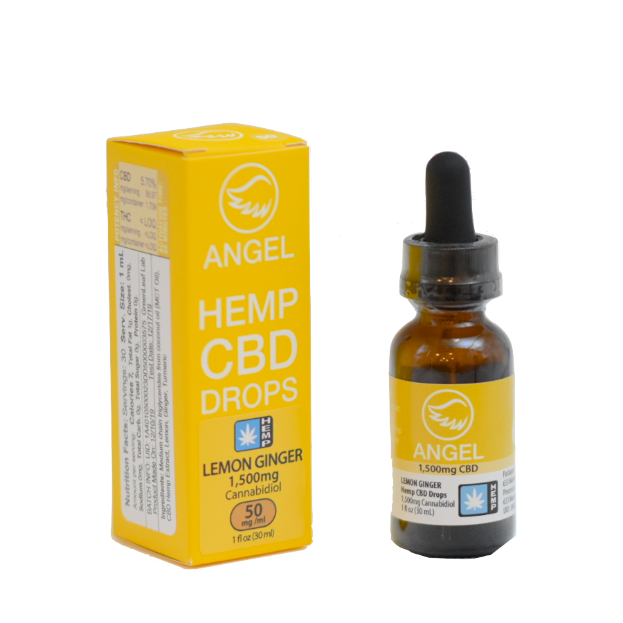 Angel Hemp CBD - 1,500 mg - Lemon Ginger