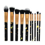 Set de 10 Pinceaux de Maquillage Professionnels Marbre - Pretty Mili