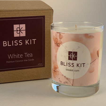 Bliss Kit Candle 6.5 oz. in White Tea
