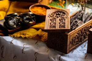 Bakhoor Box - Chip Carving - Door - 20cm x 10cm x 10cm - Mahajati