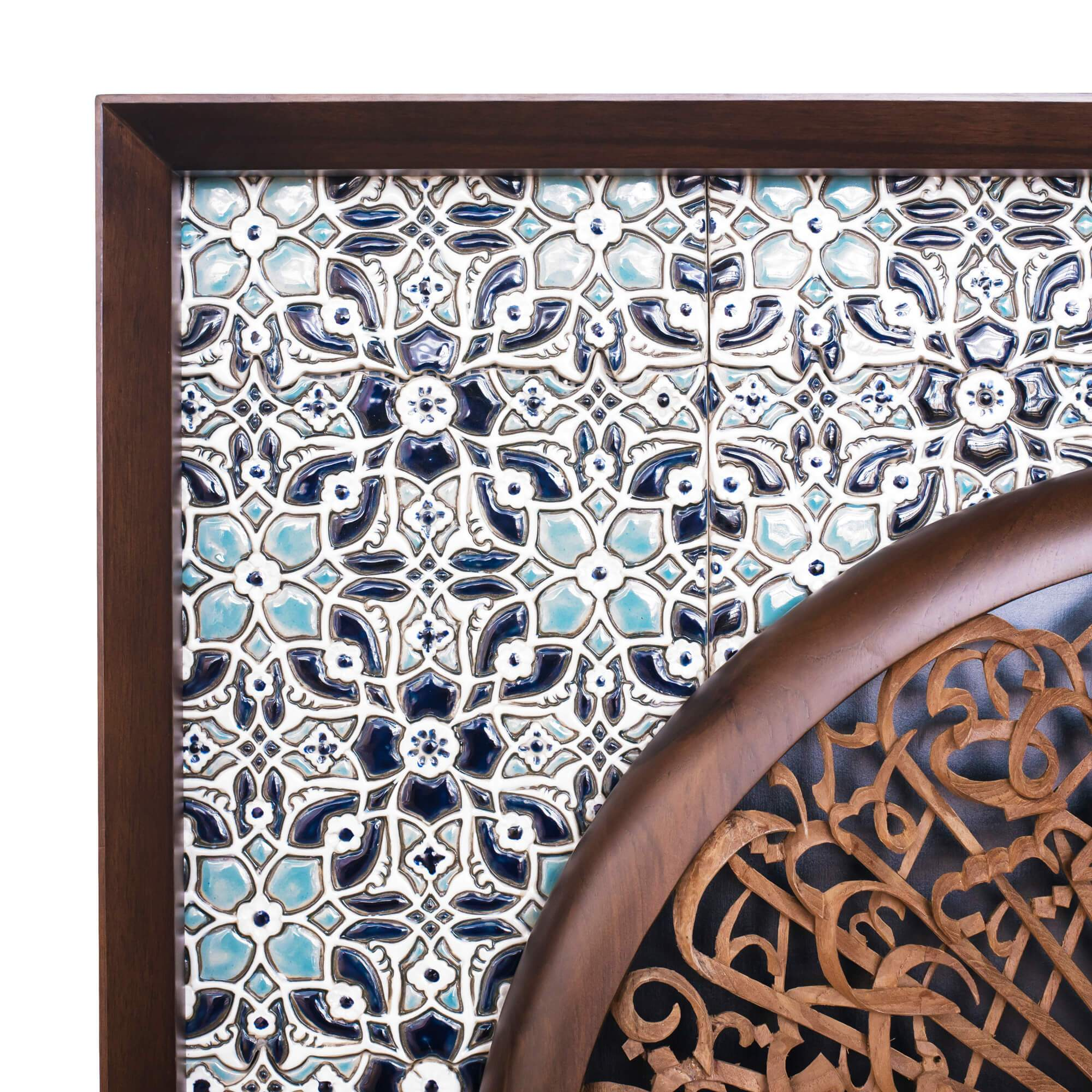 Al-Fatiha - Full 3D - 85cm Length x 85cm Height - Tile Frame 3 - Mahajati