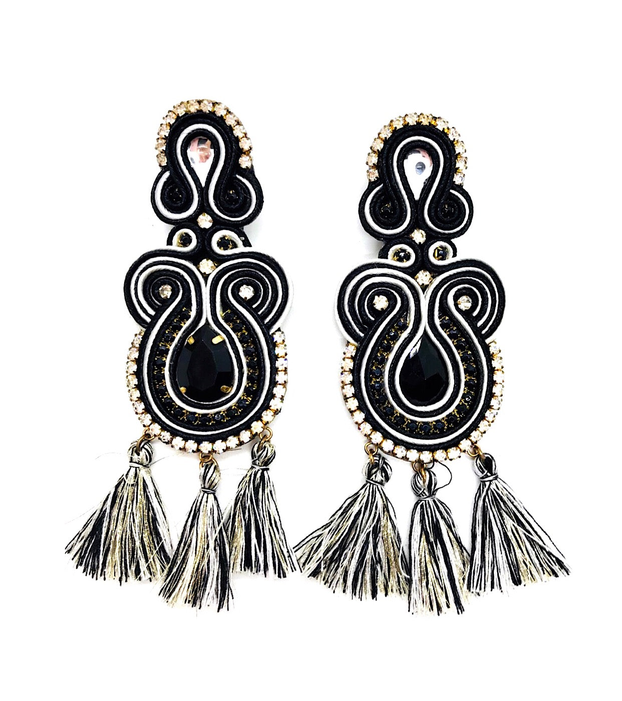 Black Long Earrings