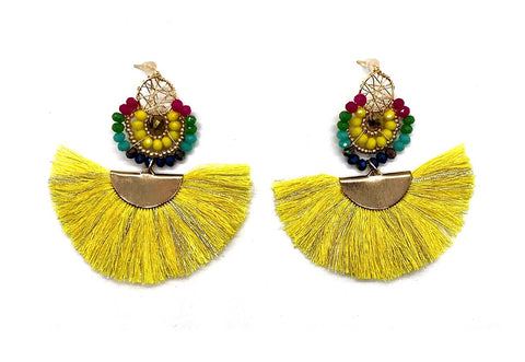 Wire Yellow M Earrings