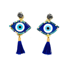 Evil Eye Earrings PLB Blue