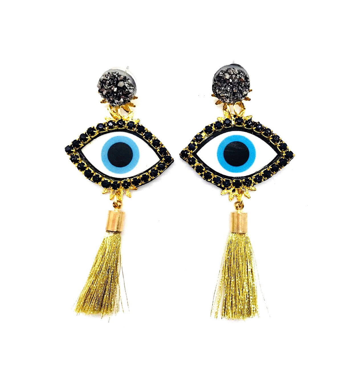 Evil Eye Earrings PLM Gold