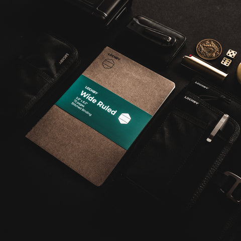 LOCHBY Pocket Journal, Quattro, and Wide Ruled Refill