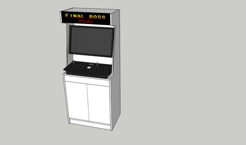 Final Boss Stand Up Cabinet