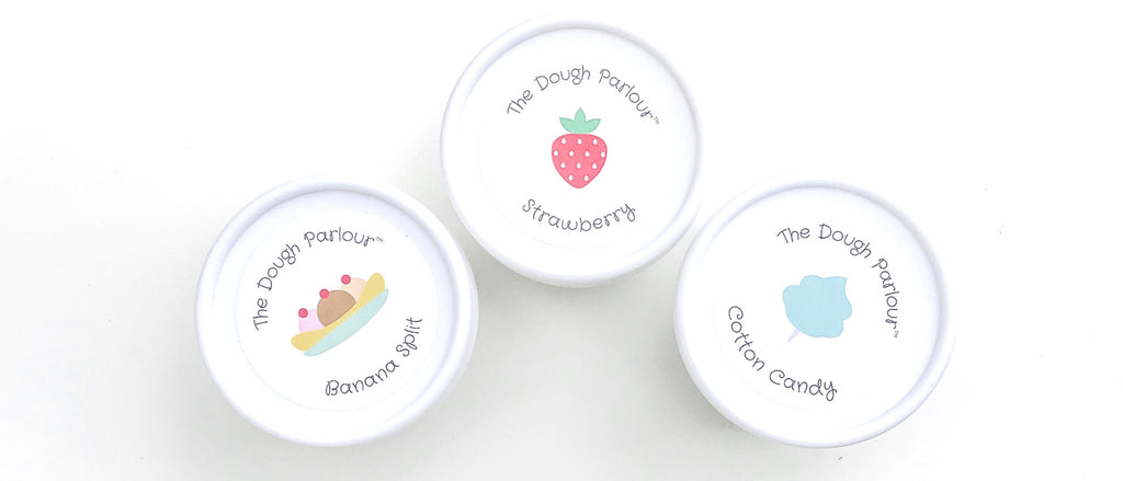 Scented play dough. Sweet Fruity scents. 100% non-toxic. Natural.