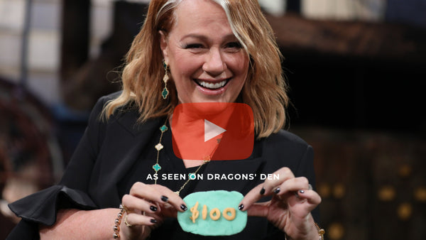 arlene dickinson on dragons' den with dough parlour play dough