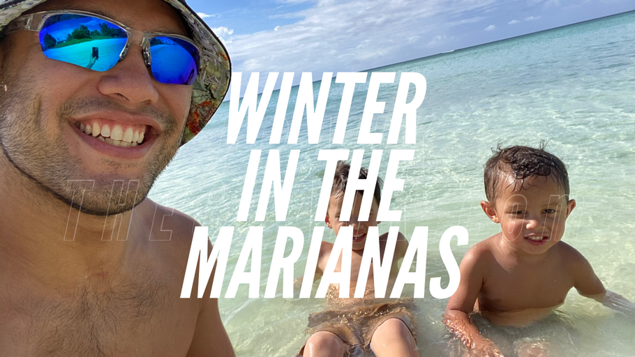 Winter in the Marianas! Boys at the Beach!