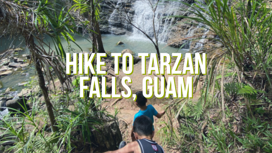 Hike to Tarzan Falls Guam w/ the kiddos!