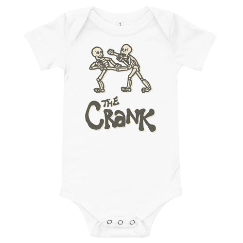 CRANK Bones Onesie - Black, White, & Gray