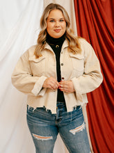 Load image into Gallery viewer, The Hudson Corduroy Jacket- Cream