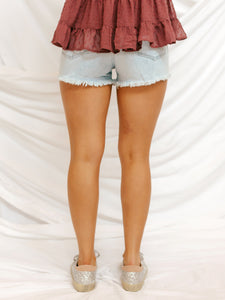 Time Changer Denim Shorts